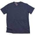 プラダ メンズ 刺繍ロゴ VネックTシャツ 濃紺 #L #XXL  PRADA