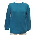 プラダ クルーネック ウールセーター 後ボタン 青緑 #40 #42 PRADA