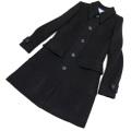 プラダ ウール ステンカラーコート 黒 #40 PRADA