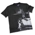 プラダ メンズ プリント クルーネックTシャツ 黒 #M #L #XL  PRADA