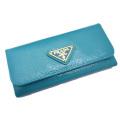 プラダ サフィアーノレザー 6連キーケース ロング ターコイズブルー(TURCHESE) 1M0223 PRADA