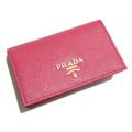 プラダ サフィアーノレザー 外ポケット付 カードケース(名刺入れ) ピンク(PEONIA) 1MC122 PRADA