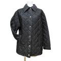 プラダ ナイロンキルティング ジャケットコート 黒 #38 PRADA