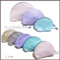 ラカルタブリエ フランス製 きらきらスエード 半円ポーチ #L  LA CARTABLIERE