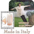 イタリア製 切替が素敵なゆったりカットソー ベージュ/ピーチ #S