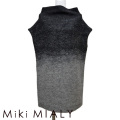 ミキミアリ ニットワンピース 黒×グレー #36 Miki MIALY