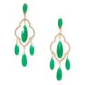 ケイトスペード シャンデリア ピアス グリーン(lantern gems chandelier earrings) kate spade