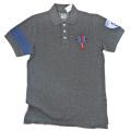88Tees メンズ 鹿の子 ポロシャツ チャコールグレー #M