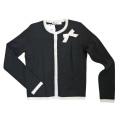 ブルーガール 上品なニットジャケット(カーディガン) 黒 #38 Blugirl