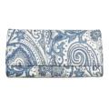 エトロ ペイズリー柄 二つ折り長財布 ブルー×白 ETRO
