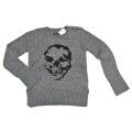 ザディグエヴォルテール スカル柄ローゲージざっくりセーター グレー#38 Zadig & Voltaire