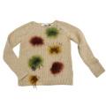 ブルーガール ファーポンポン付 セーター ベージュ #38 blugirl