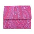 エトロ ペイズリー柄 コンパクト二つ折り財布 赤紫 ETRO