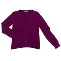 ピンコ カシミア100% Vネックカーディガン 赤紫 #S PINKO