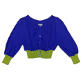 フィロソフィー バイカラー ボレロカーディガン 青×緑 #40 PHILOSOPHY DI ALBERTA FERRETTI