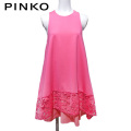 ピンコ フレアー チュニックワンピース ネオンピンク #40 PINKO