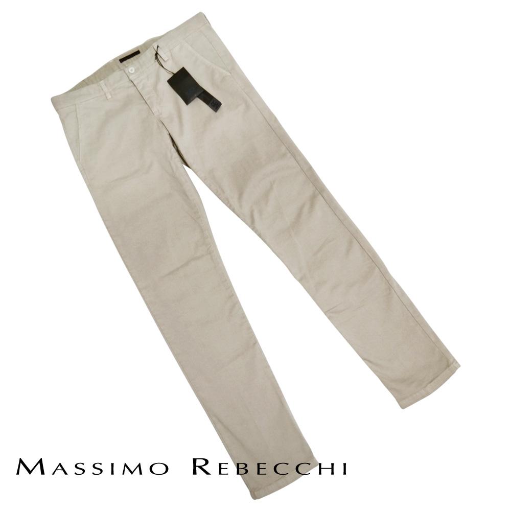 マッシモレベッキ イタリア製 メンズ カジュアルコットンパンツ(チノパン) ベージュ #50 MASSIMO REBECCHI