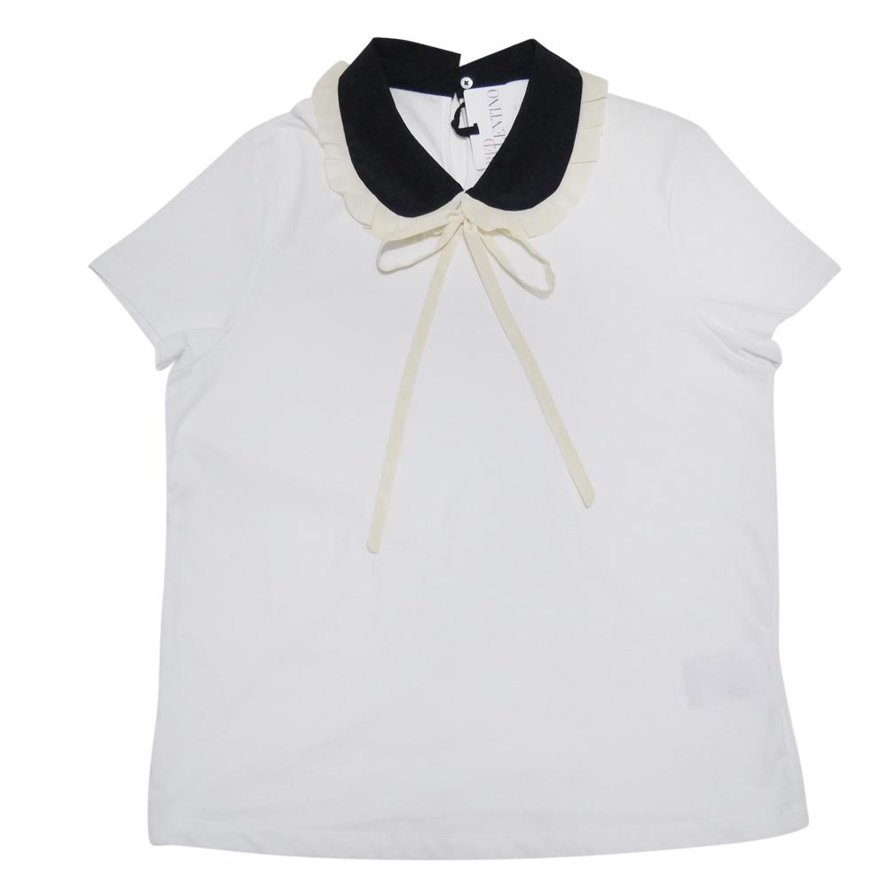 レッドヴァレンティノ 丸襟 Tシャツ 白 #XL RED VALENTINO
