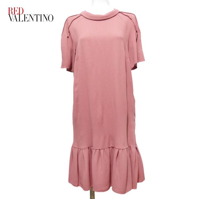 レッドヴァレンチノ 半袖ワンピース ピンク #42 RED VALENTINO