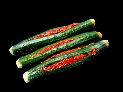 胡瓜のキムチ赤