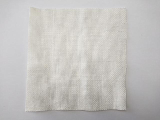 麻 平織 生地 白 色