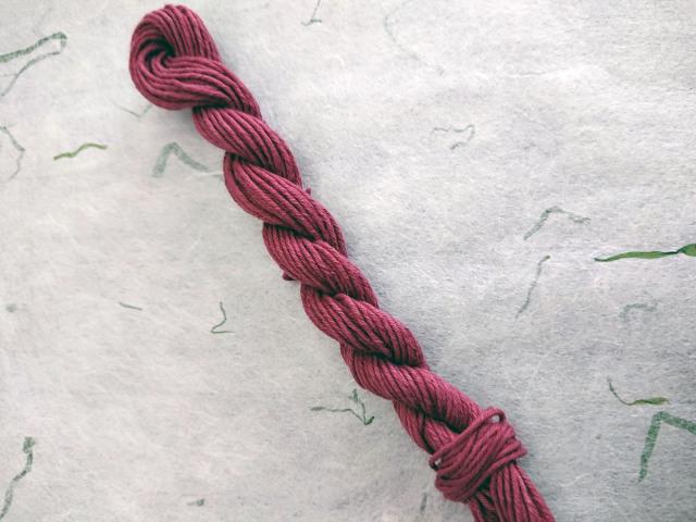 赤紫 草木染 糸