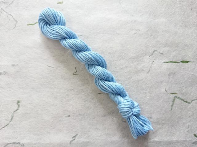 本藍 染 糸 水浅葱 水色