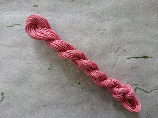 茜 染 糸