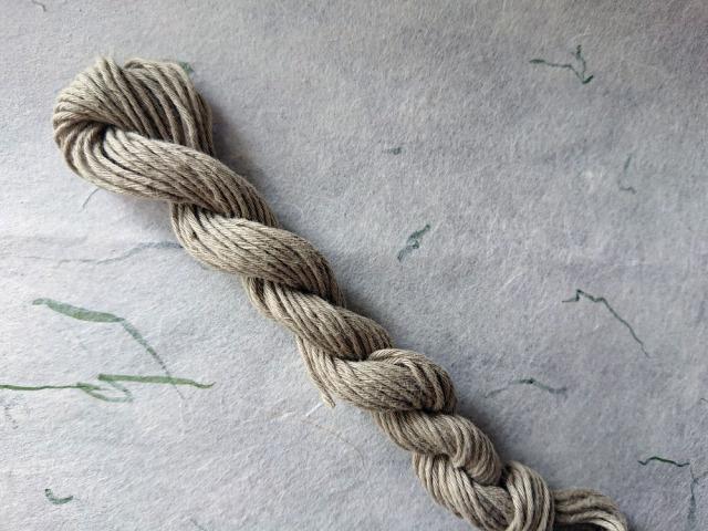 草木 染 糸 緑 老竹