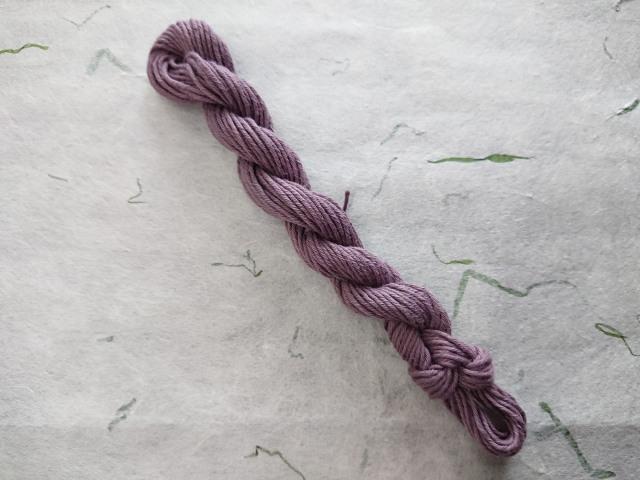 むらさき 草木染 糸