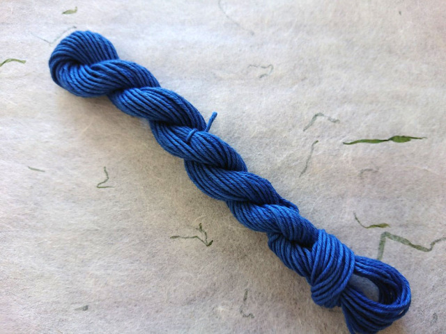 藍 染 糸 インド 藍