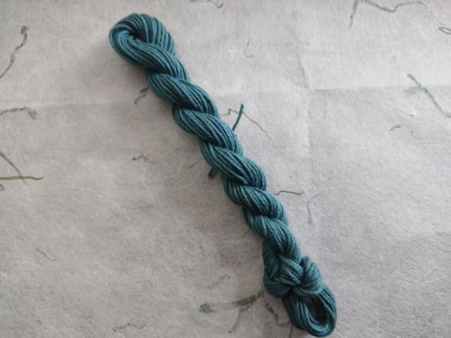 マリーゴールド 藍 染め糸