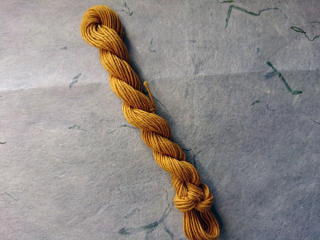 マリーゴールド 染め 糸