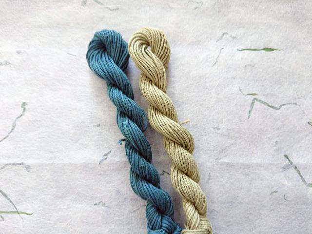 緑 みどり 草木染 糸