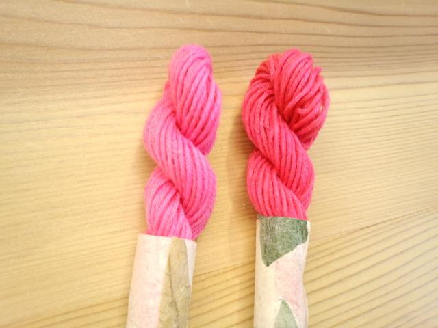 紅花 染め糸