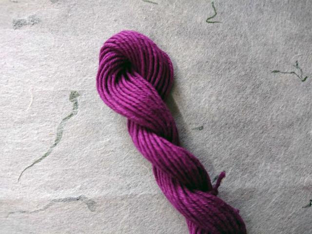 越後路 草木染め 糸 紫