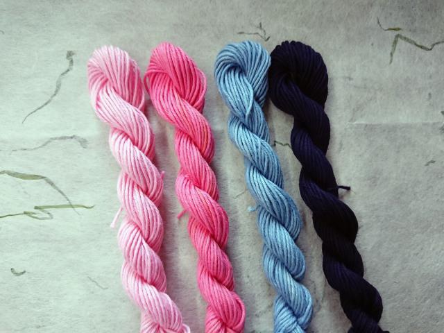 藍染め 紅花染め 糸