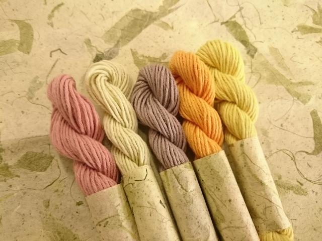 りんご 草木 染め 糸