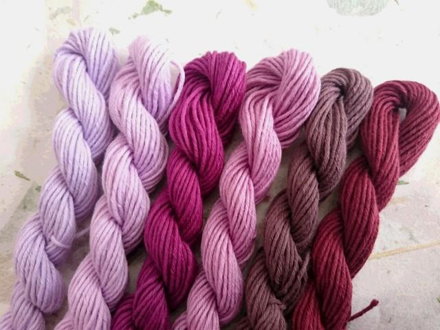 むらさき 彩 草木染め糸