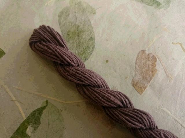 泥染 テーチギ 糸 グレー