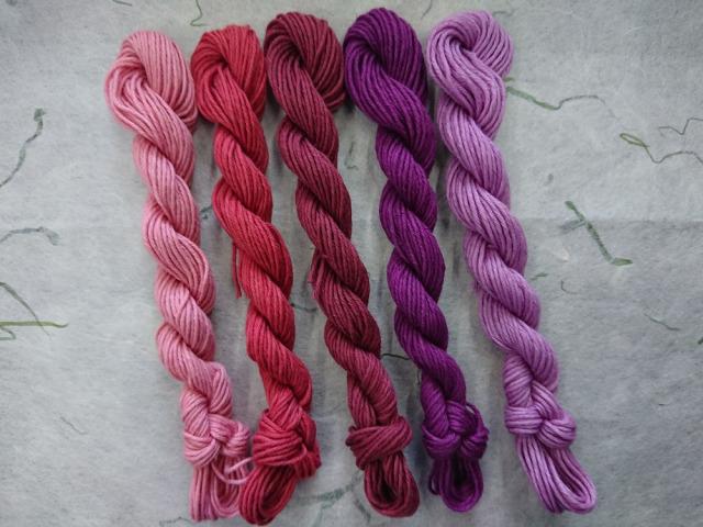 茜染め 紫染め コチニール 草木染 糸