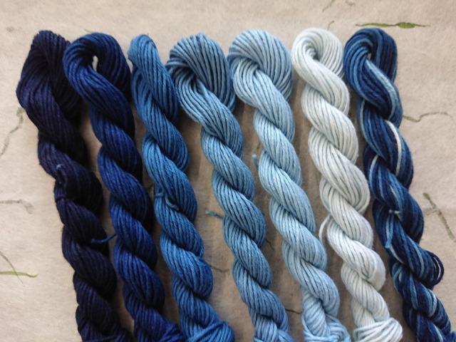 本藍 染め 糸 7色