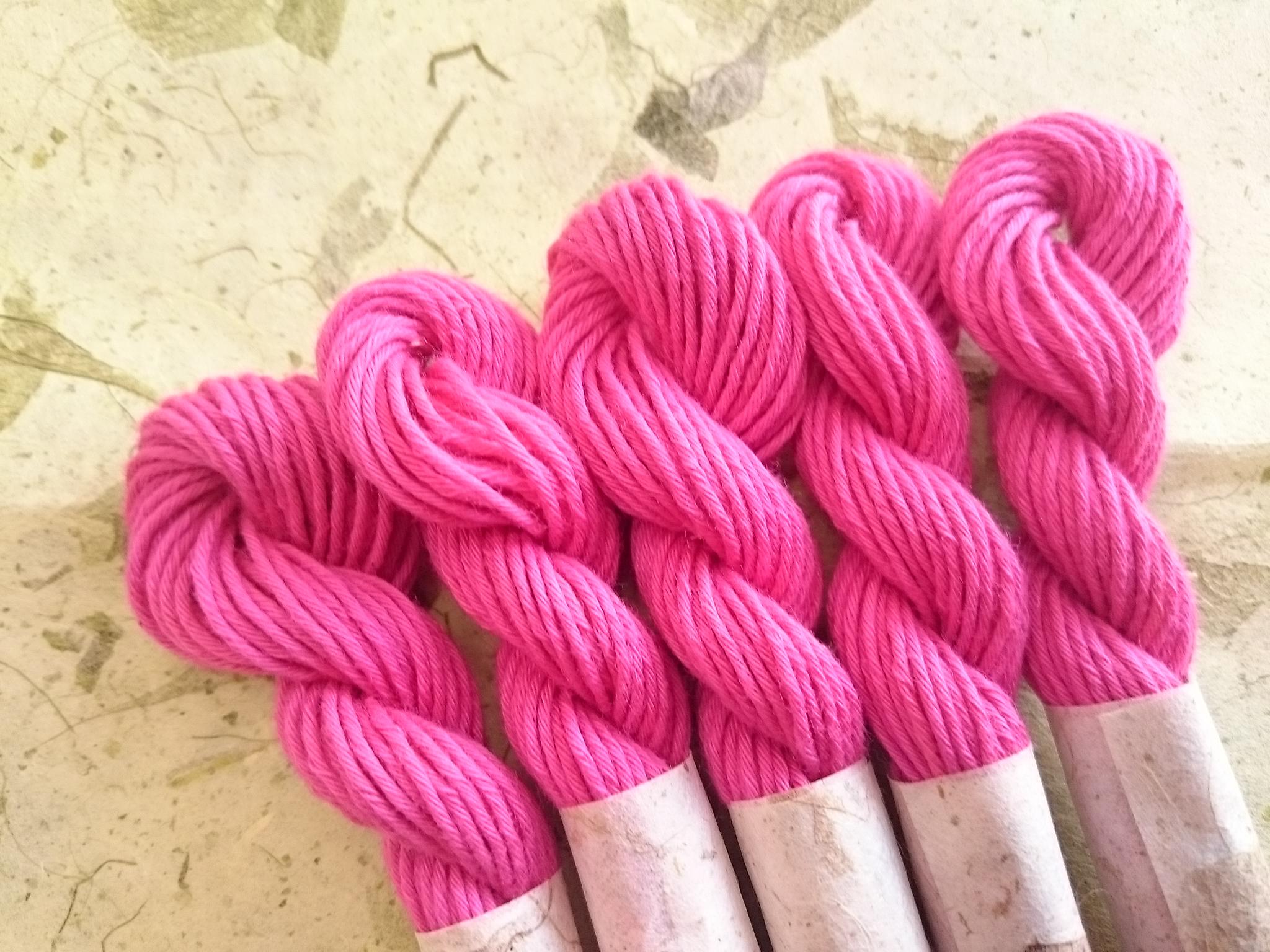 国産 紅花 染め 糸