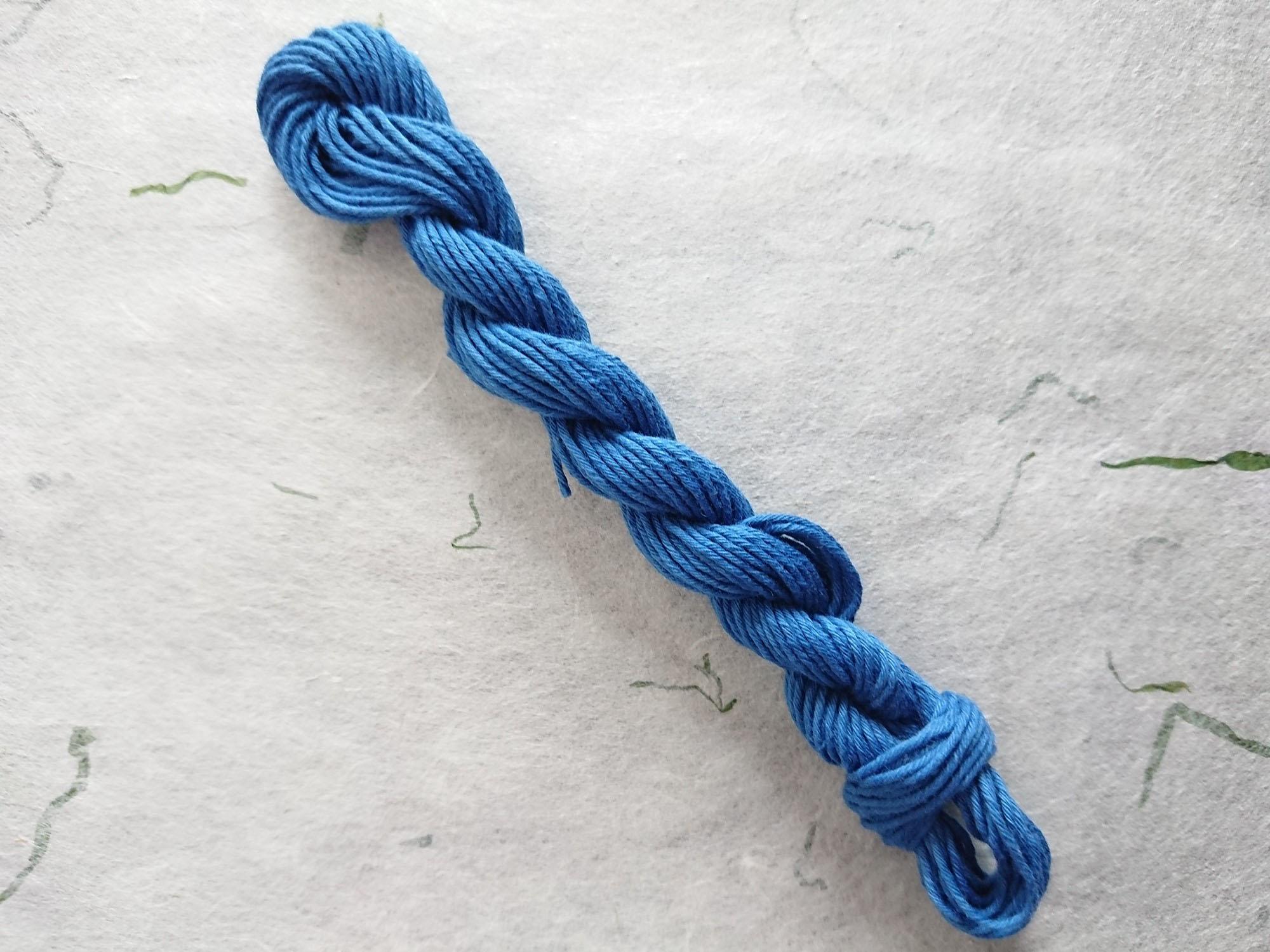 本藍 染 糸 縹