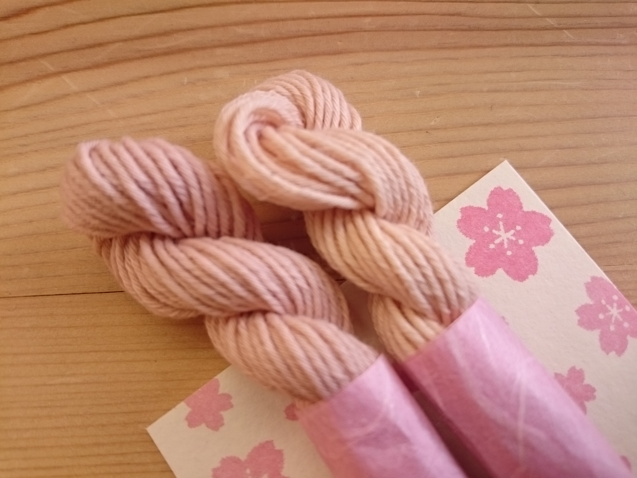 さくら染め 桜染め糸