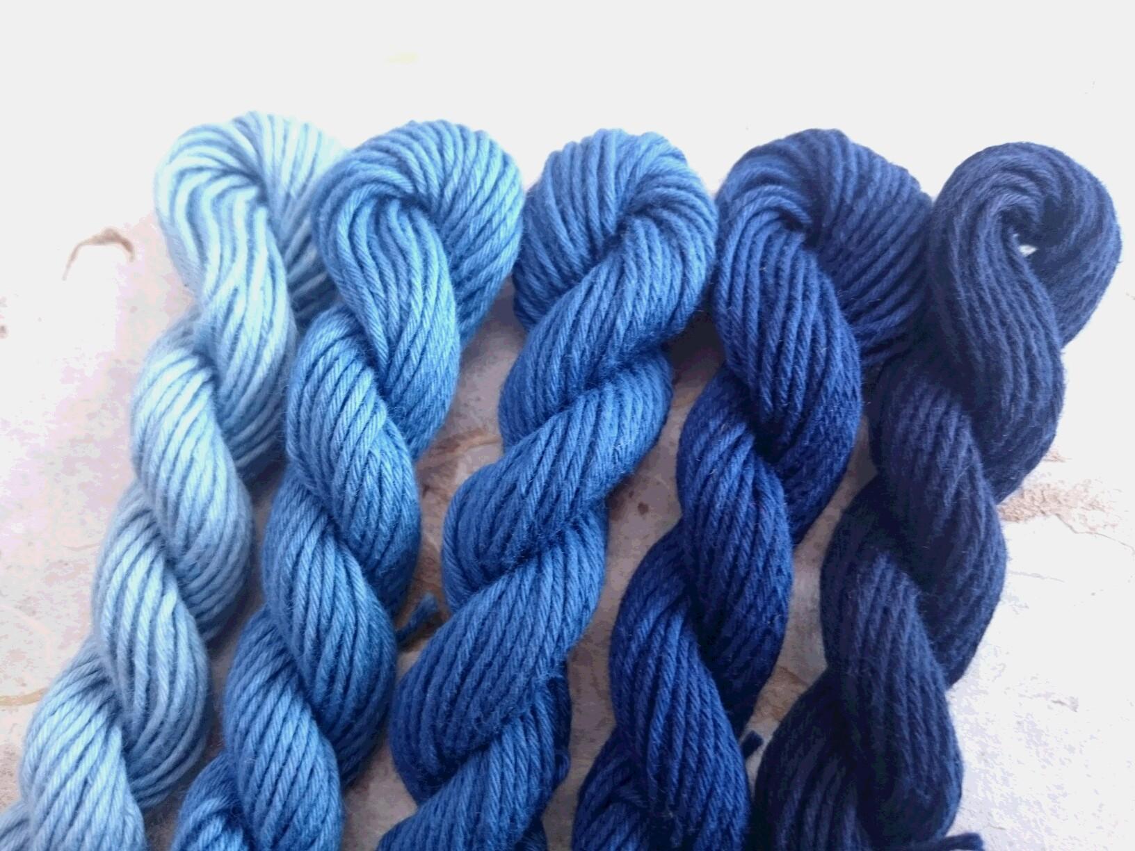 本藍染め 糸 5色