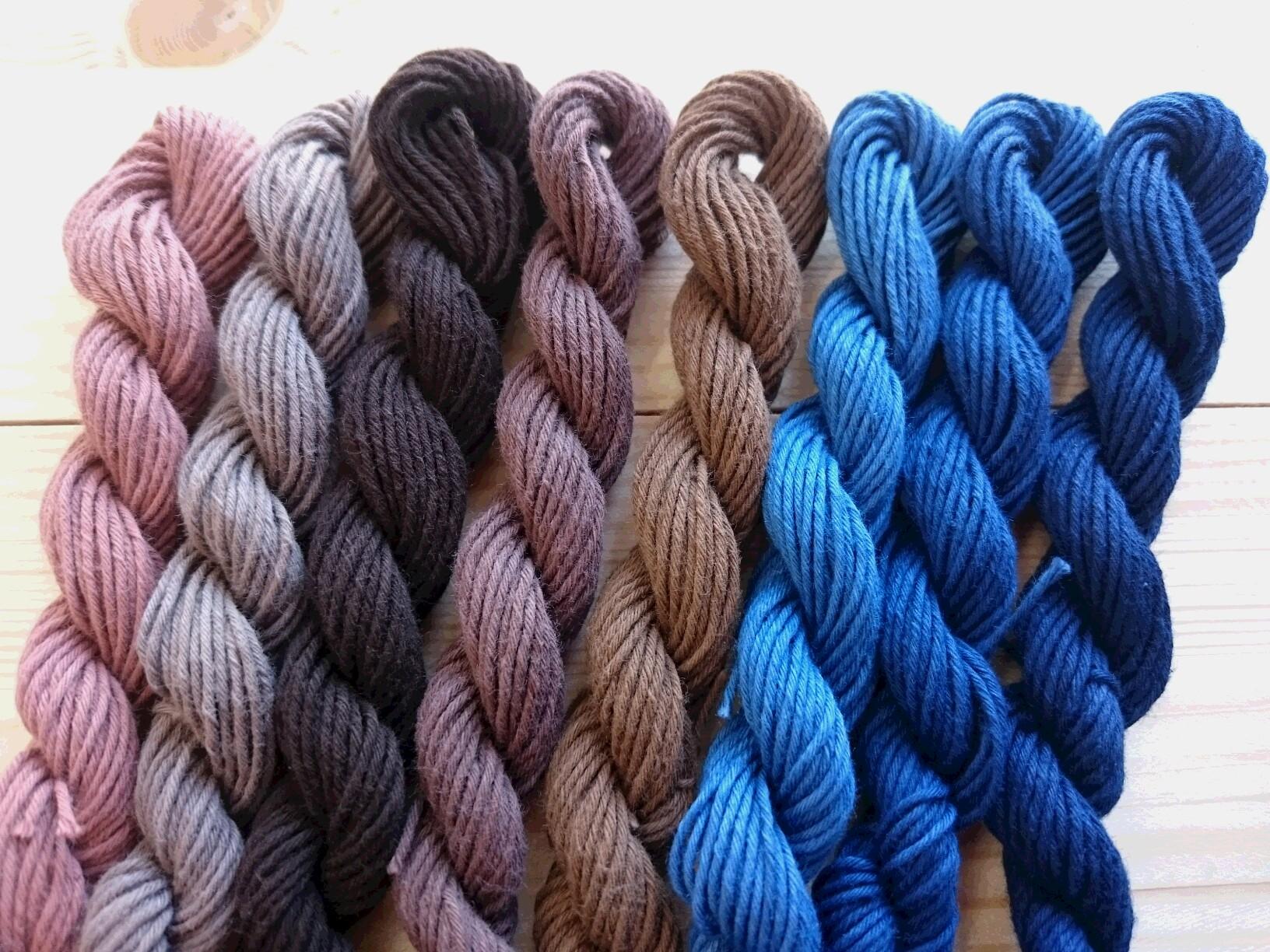 泥染 テーチギ染 藍染 8色