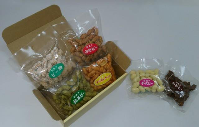 甘辛ピーナッツ6種ミニパック 箱入りギフトセット