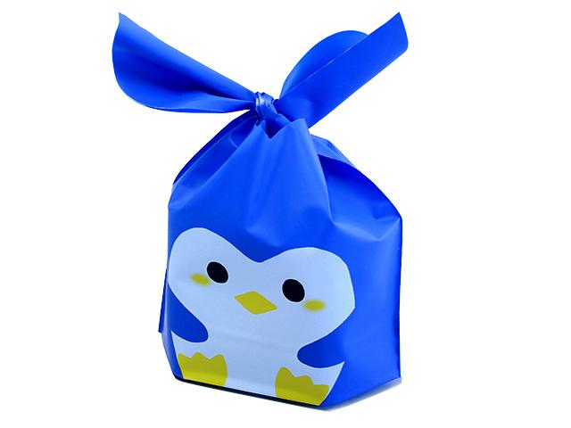 結び袋 ペンギン・中 (10枚入)