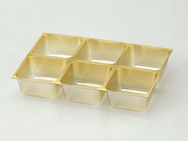 チョコレート 6ヶ ゴールド (10枚入/100枚入)